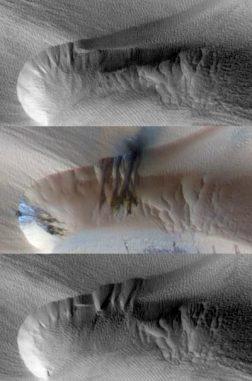 Sanddünen auf dem Mars (NASA / JPL / The University of Arizona)