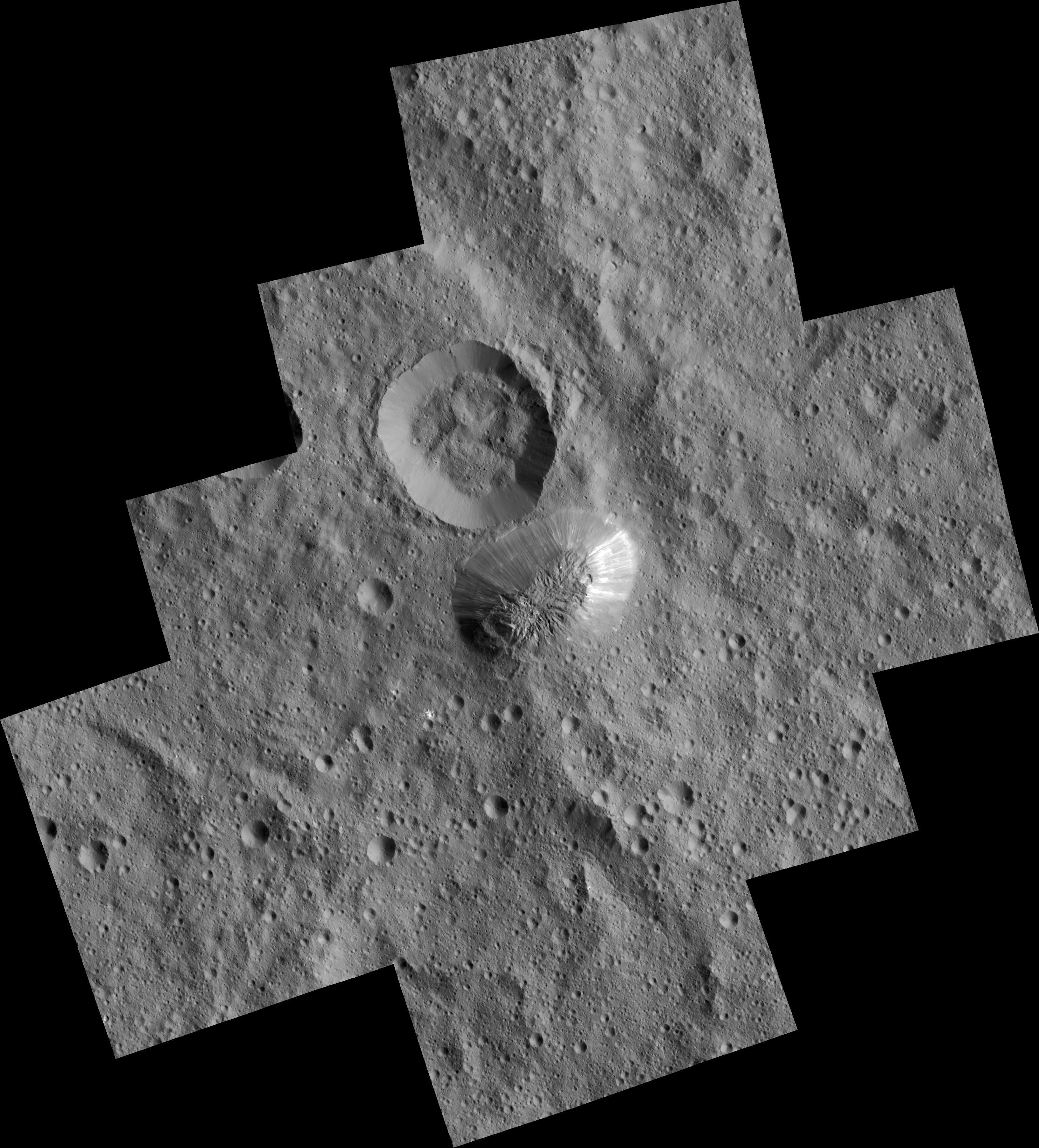 Ahuna Mons. (NASA / JPL / Dawn mission)