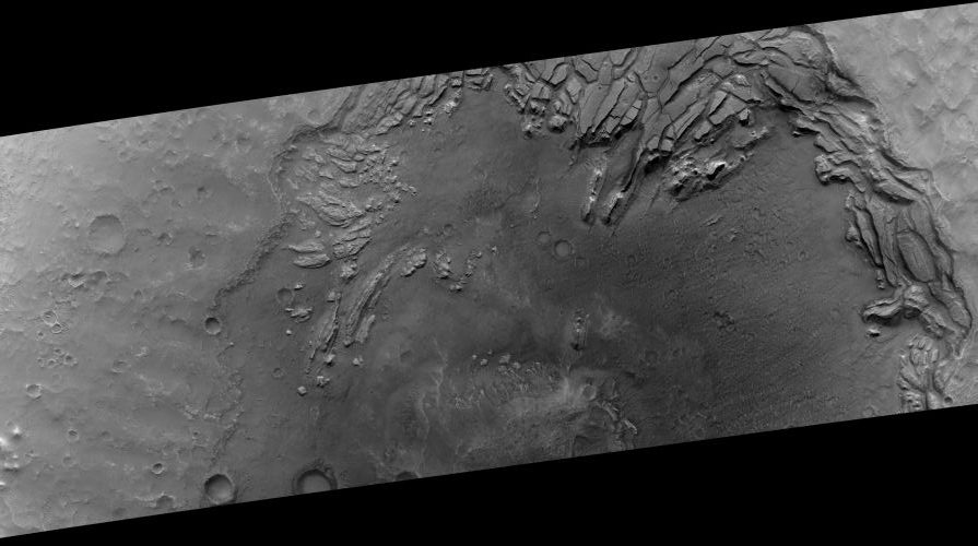 Komplexer Krater in Arabia Terra (Courtesy of NASA / JPL / University of Arizona)