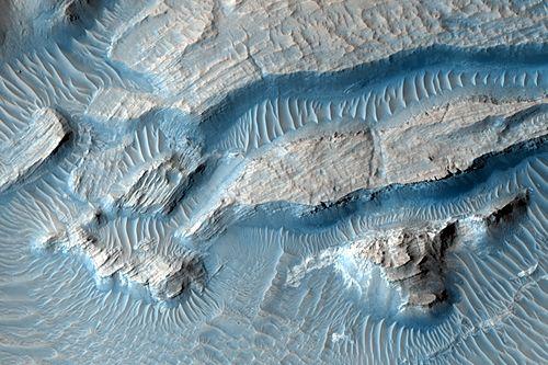 Großaufnahme des Kraters (Courtesy of NASA / JPL / University of Arizona)