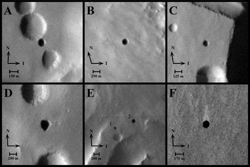 """Die """"Sieben Schwestern"""" (Courtesy of NASA / JPL-Caltech / ASU / USGS)"""