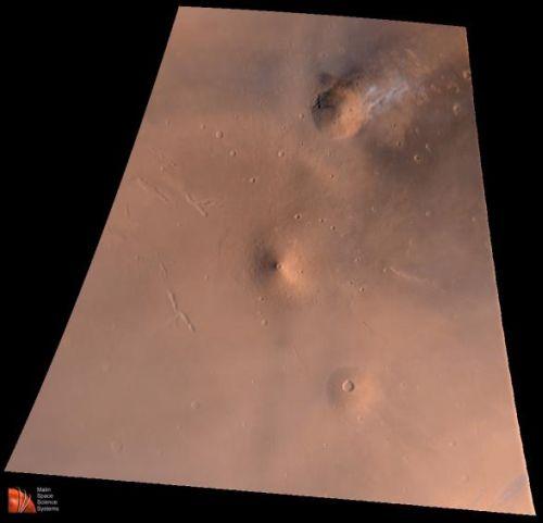 Ein Ausschnitt von Elysium Planitia (Courtesy of NASA / JPL / MSSS)