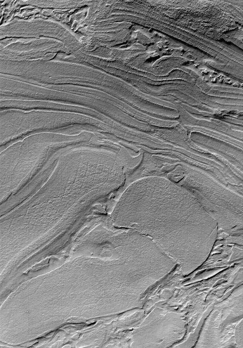 Chaotische Strukturen in Hellas Planitia (Courtesy of NASA / JPL / MSSS)