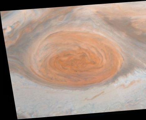 Jupiters Großer Roter Fleck (Courtesy of NASA / JPL / Cornell University)