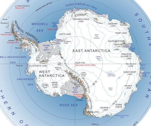 Karte von der Antarktis (Anklicken zum Vergrößern) (mapsof.net)
