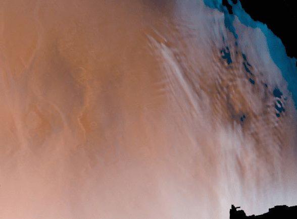 Eiswolken in der Marsatmosphäre (Courtesy of NASA)