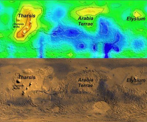 Methanvorkommen auf dem Mars (Courtesy of NASA / Università del Salento)