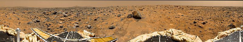 360-Grad-Panoramaaufnahme der Marsoberfläche (Courtesy of NASA / JPL)