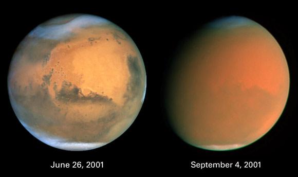 Globaler Staubsturm auf dem Mars (Courtesy of NASA / STScl / AURA)
