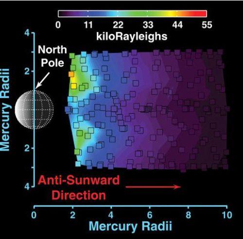 Die nebenstehende Grafik zeigt den ersten spektrometrischen Nachweis von Magnesium in der Exosphäre von Merkur. (Courtesy of NASA / Johns Hopkins University Applied Physics Laboratory / Carnegie Institution of Washington)