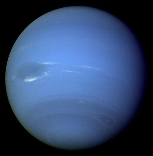 Neptun, aufgenommen von der Raumsonde Voyager 2 (NASA / JPL)