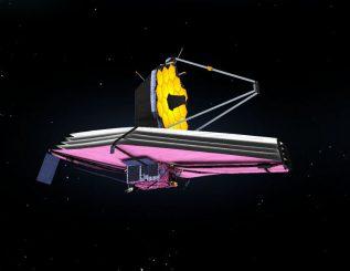 Simulation des James Webb Space Telescope. (NASA/Goddard Space Flight Center)