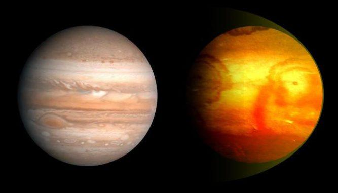 Künstlerische Darstellung von Jupiter und dem Exoplaneten XO-2b. (Ignacio González Tapia)