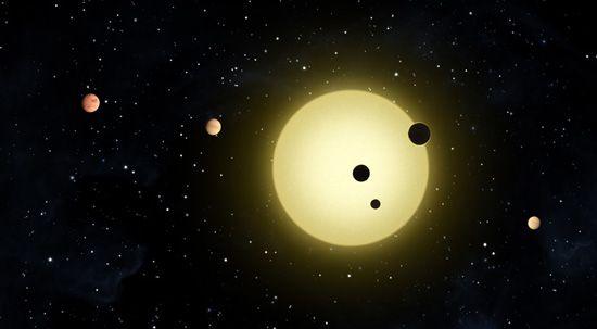 Künstlerische Darstellung des Systems Kepler-11 (NASA / Tim Pyle)