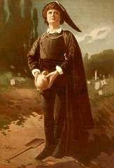 Hamlet auf einem Gemälde