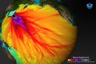 Auswirkungen des Bebens vom 11. März 2011. (NOAA)