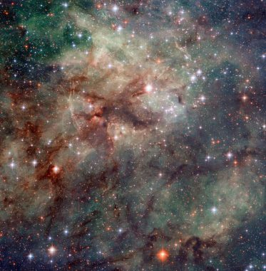 Zentrum des Tarantelnebels. (NASA/ESA)