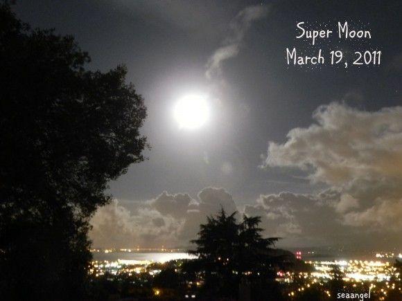 Der Super-Vollmond vom 19. März 2011 über San Francisco (USA), Foto: Diane Garber