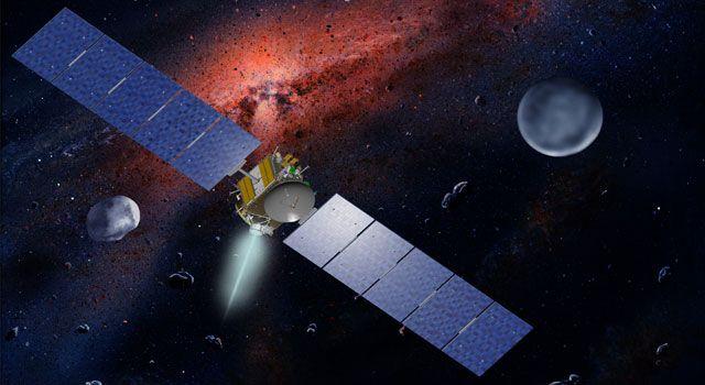 Illustration der Raumsonde Dawn. (NASA/JPL)