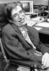 Stephen Hawking in den 1980er Jahren. (NASA)