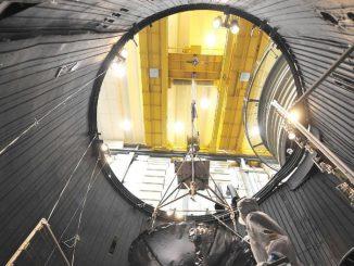 Juno bei den Vorbereitungen. (NASA/Caltech-JPL/Lockheed Martin)
