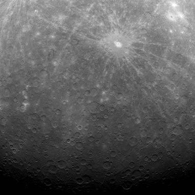 Merkur, aufgenommen von der Raumsonde MESSENGER. (NASA/Johns Hopkins University Applied Physics Laboratory/Carnegie Institution of Washington)
