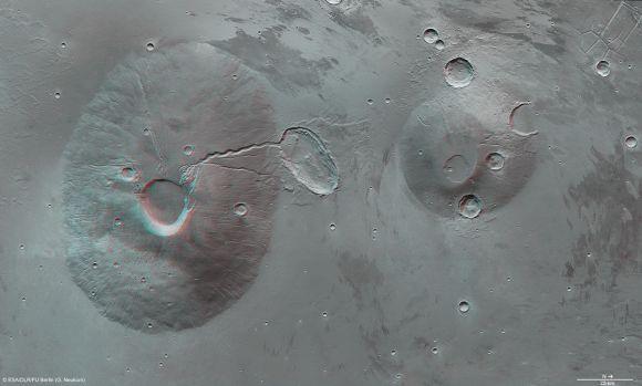 Ceraunius Tholus und Uranius Tholus in 3D(ESA/DLR/FU Berlin (G. Neukum))