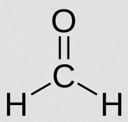 Strukturformel von Formaldehyd (Wikipedia / User: Wereon / gemeinfrei)