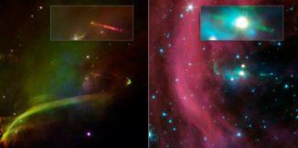 Jets von Herbig-Haro 34 (NASA/JPL-Caltech)