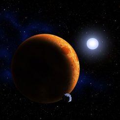 Künstlerische Darstellung des neu geborenen Sterns (David A. Aguilar (CfA))