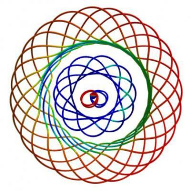 Zwei donutförmige Vortexe, die von einem pulsierenden Schwarzen Loch ausgehen (The Caltech/Cornell SXS Collaboration)