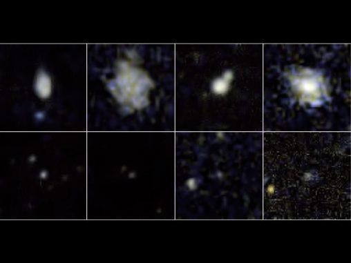 Beobachtungsreihe des Galaxy Evolution Explorer (NASA/JPL-Caltech)