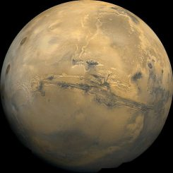 Der Mars, aufgenommen von Viking 1 (NASA)