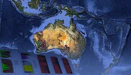 Der Spatial Information Services Stack (SISS) erlaubt Zugriff auf geologische Daten über ganz Australien (Aiden Sehovic, AuScope)
