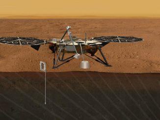 Künstlerische Darstellung der vorgeschlagenen Geophysical Monitoring Station auf dem Mars (NASA/JPL-Caltech)