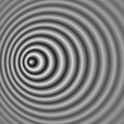 Auswirkung des Doppler-Effektes auf die Wellenlänge eines bewegten Objektes (Wikipedia / User: Pbroks13 / gemeinfrei)