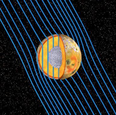 Die interne Struktur des Jupitermondes Io (NASA/JPL/University of Michigan/UCLA)