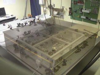 Der optische Resonator, der in dem Experiment benutzt wurde (Cécile Robilliard / CNRS)
