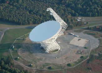 Das Robert C. Byrd Green Bank Telescope (GBT) in Green Bank, West Virginia (Image courtesy of NRAO/AUI)