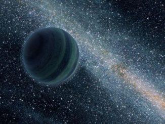 Künstlerische Darstellung eines jupiterähnlichen Planeten, der frei im All vagabundiert (NASA/JPL-Caltech/R. Hurt)