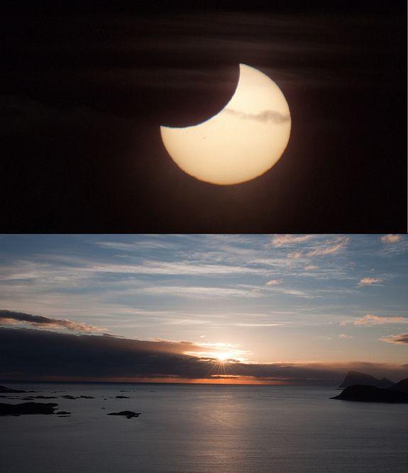 Partielle Sonnenfinsternis vom 1. Juni 2011 / Tromsø, Norwegen (Bernt Olsen)