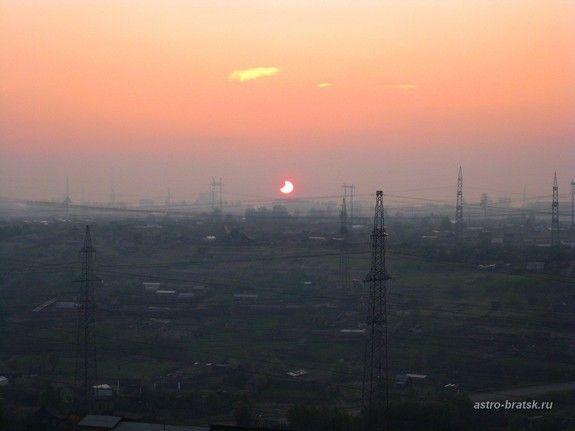 Partielle Sonnenfinsternis vom 1. Juni 2011 / Bratsk, Russland (Svetlana Kulkova)