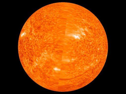 Erstes vollständiges Bild der erdabgewandten Seite der Sonne (NASA / STEREO)