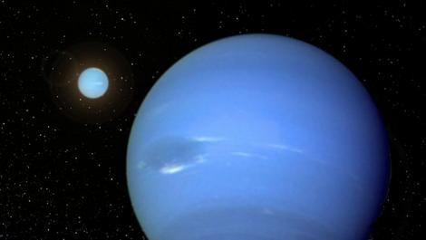 Künstlerische Darstellung eines Systems mit zwei Neptunähnlichen Planeten (CoRoT / Oxford University)