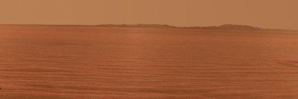 Der östliche Rand des Endeavour Kraters, aufgenommen vom Mars Rover Opportunity (NASA / JPL-Caltech / Cornell University)