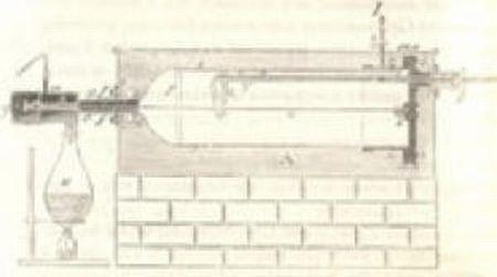 Zeichnung des Versuchsaufbaus in der originalen Abhandlung von 1853 (Univ. Of Bristol)