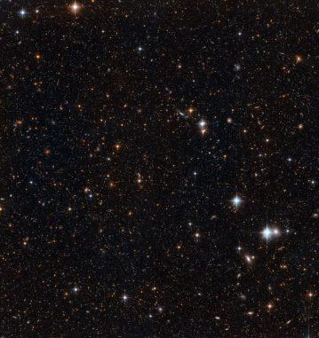 Ein kleiner Ausschnitt der Scheibe der Andromeda Galaxie (NASA, ESA and T.M. Brown (STScI))