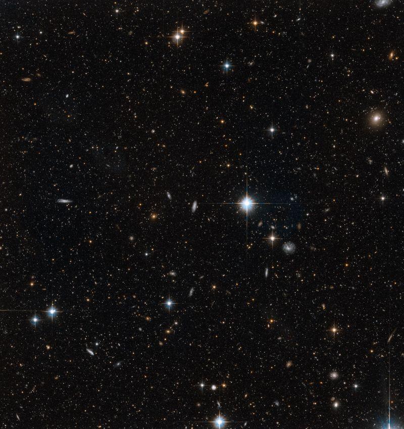 Dieses Bild zeigt Sterne in einem kleinen Ausschnitt des Giant Stellar Streams (NASA, ESA and T.M. Brown (STScI))