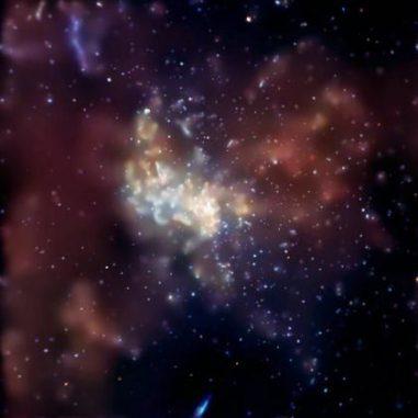 Ein Bild der Region, in dem das zentrale Schwarze Loch der Milchstraße liegt, aufgenommen vom Chandra Röntgenobservatorium. (Chandra X-ray Observatory)