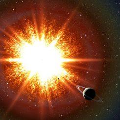 Künstlerische Darstellung einer Supernova-Explosion (David A. Aguilar (CfA))